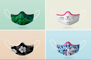 Print on Demand: Face Mask Photoshop Mockup Graphic Product Mockups By Pixtordesigns 2