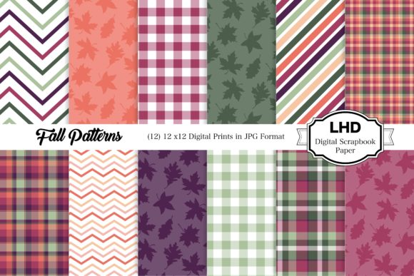 Fall Patterns - Digital Papers Graphic Patterns By LeskaHamatyDesign