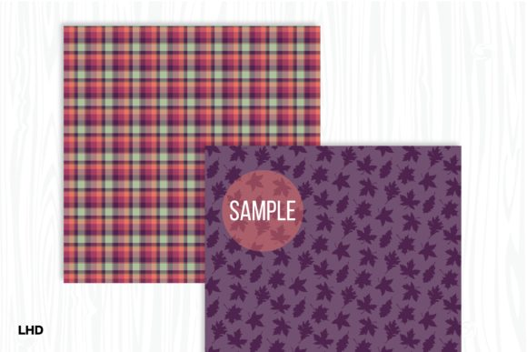 Fall Patterns - Digital Papers Graphic Patterns By LeskaHamatyDesign - Image 4