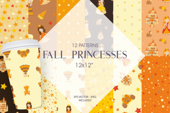 Print on Demand: Fall Princesses Graphic Patterns By Prettygrafik