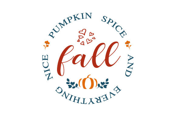 Print on Demand: Fall - Pumpkin Spice Oak Leaves Graphic Crafts By ShineGreenArt