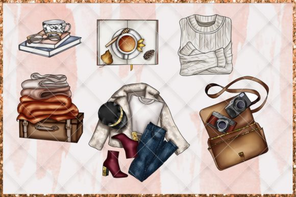 Fall & Thanksgiving Clipart Set Graphic Item