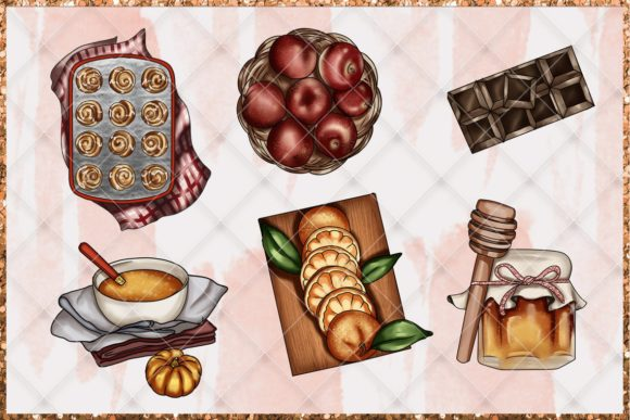 Print on Demand: Fall & Thanksgiving Clipart Set Graphic Illustrations By TheGGShop - Image 4