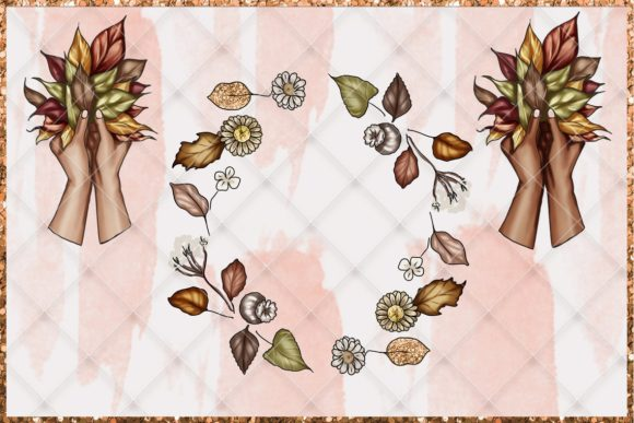 Print on Demand: Fall & Thanksgiving Clipart Set Graphic Illustrations By TheGGShop - Image 5