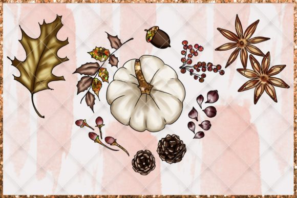 Print on Demand: Fall & Thanksgiving Clipart Set Graphic Illustrations By TheGGShop - Image 6
