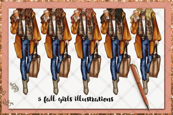 Print on Demand: Fall & Thanksgiving Clipart Set Graphic Illustrations By TheGGShop - Image 8