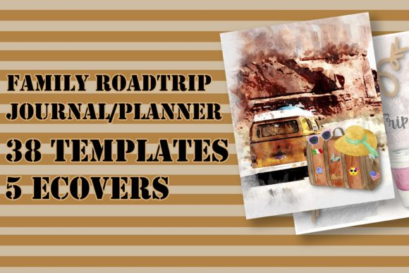 Print on Demand: Family Road Trip Journal/Planner for KDP Graphic KDP Interiors By Me610520