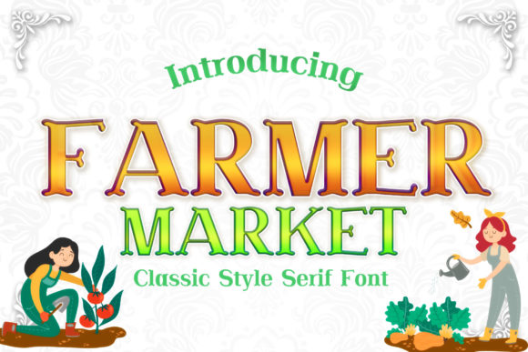 Print on Demand: Farmer Market Serif Font By numnim