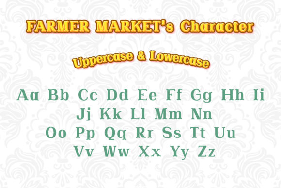 Print on Demand: Farmer Market Serif Font By numnim - Image 2