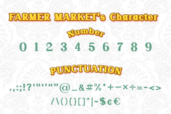 Print on Demand: Farmer Market Serif Font By numnim - Image 3