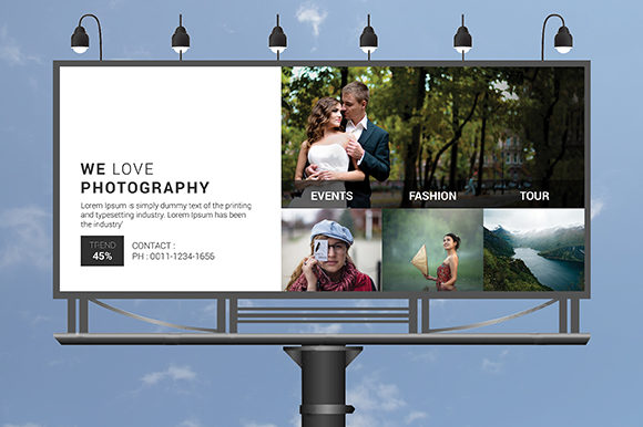 Fashion Photography Billboard Graphic Print Templates By CraftFog