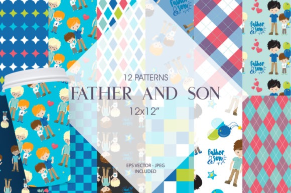 Print on Demand: Father and Son Graphic Patterns By Prettygrafik