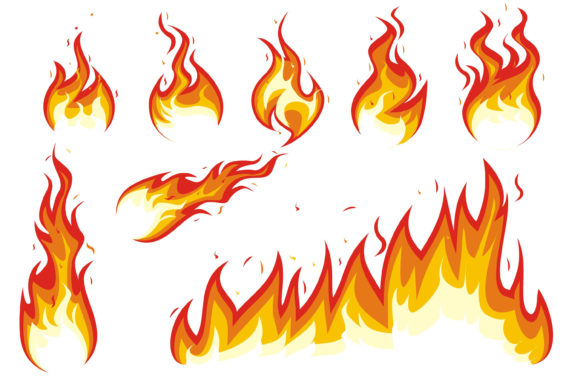 Print on Demand: Fire Hottest Blaze Graphic Illustrations By edywiyonopp