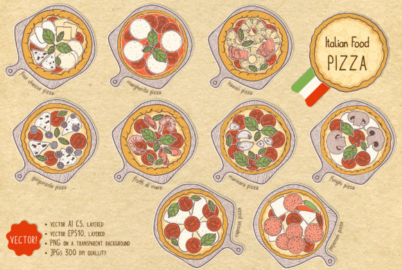 Fresh Pizza Graphic Illustrations By Snowstorm's Box