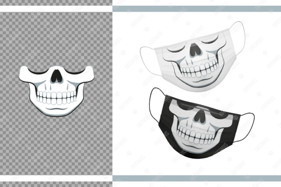Funny Skull Design for Face Mask  Graphic Crafts By Natariis Studio