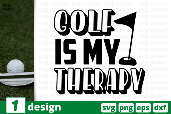 Print on Demand: Golf is My Therapy Graphic Crafts By SvgOcean