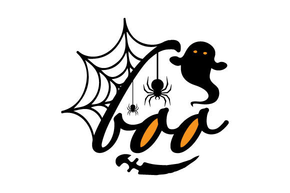Print on Demand: Halloween Boo Ghost Graphic Crafts By ShineGreenArt