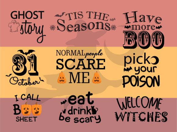 Halloween Bundle Quote Graphic Illustrations By studioluckee