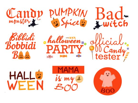 Halloween Quotes Design Graphic Illustrations By studioluckee