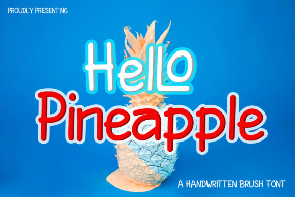 Print on Demand: HelLo Pineapple Script & Handwritten Font By Nahda Creative