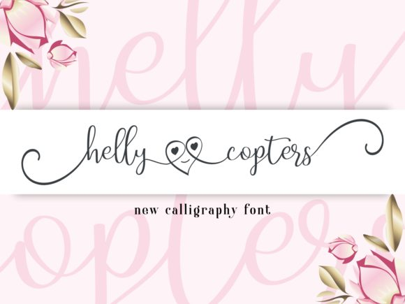 Print on Demand: Helly Copters Script & Handwritten Font By nryntdw