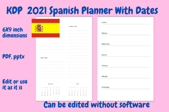 Print on Demand: KDP 2021 Spanish Planner Graphic KDP Interiors By Income Plum