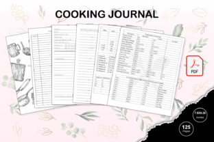 Print on Demand: KDP Interior Cooking Journal Graphic KDP Interiors By TripleBcraft 1