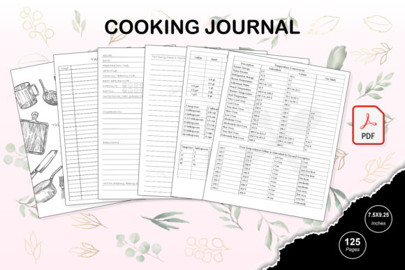 Print on Demand: KDP Interior Cooking Journal Grafik KPD Innenseiten von TripleBcraft