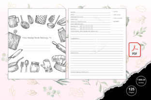 Print on Demand: KDP Interior Cooking Journal Graphic KDP Interiors By TripleBcraft 2