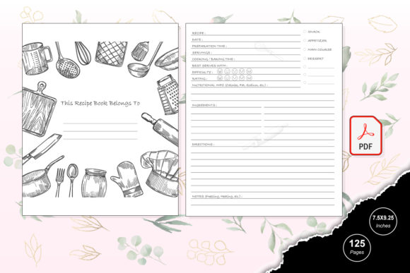 Print on Demand: KDP Interior Cooking Journal Graphic KDP Interiors By TripleBcraft - Image 2