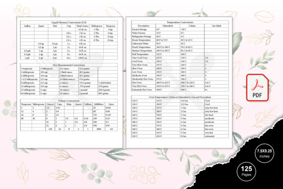 Print on Demand: KDP Interior Cooking Journal Graphic KDP Interiors By TripleBcraft - Image 3