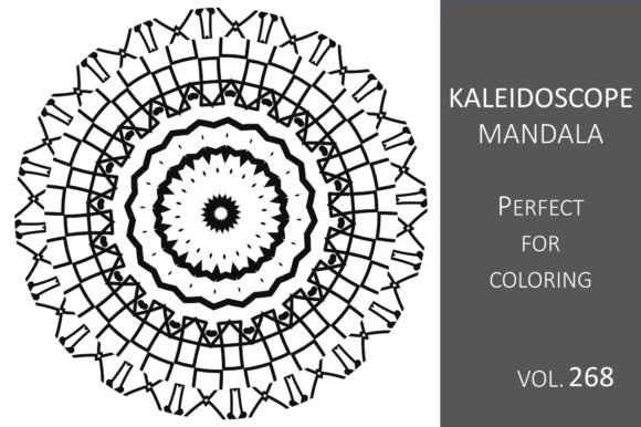 Print on Demand: Kaleidoscope Mandala Vol.268 Graphic Illustrations By Fleur de Tango