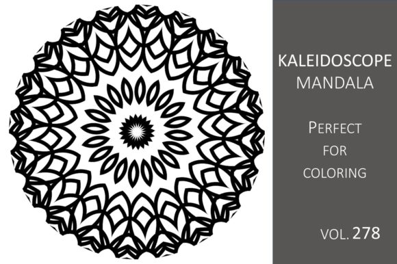 Print on Demand: Kaleidoscope Mandala Vol.278 Graphic Illustrations By Fleur de Tango