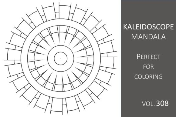 Print on Demand: Kaleidoscope Mandala Vol.308 Graphic Illustrations By Fleur de Tango