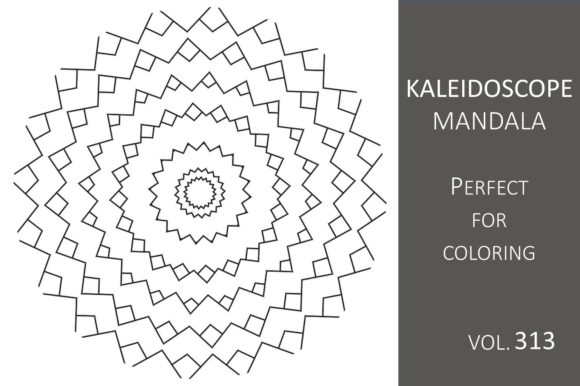 Print on Demand: Kaleidoscope Mandala Vol.313 Graphic Illustrations By Fleur de Tango