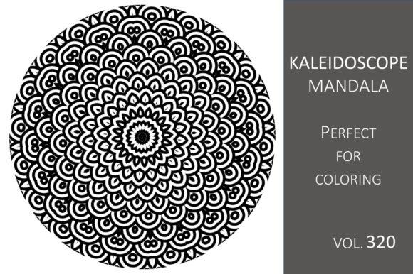 Print on Demand: Kaleidoscope Mandala Vol.320 Graphic Illustrations By Fleur de Tango