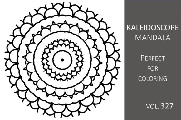 Print on Demand: Kaleidoscope Mandala Vol.327 Graphic Illustrations By Fleur de Tango
