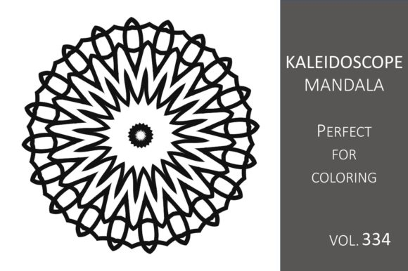 Print on Demand: Kaleidoscope Mandala Vol.334 Graphic Illustrations By Fleur de Tango