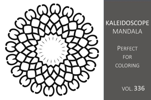 Print on Demand: Kaleidoscope Mandala Vol.336 Graphic Illustrations By Fleur de Tango