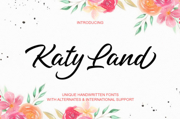 Print on Demand: Katy Land Script & Handwritten Font By scoothtype