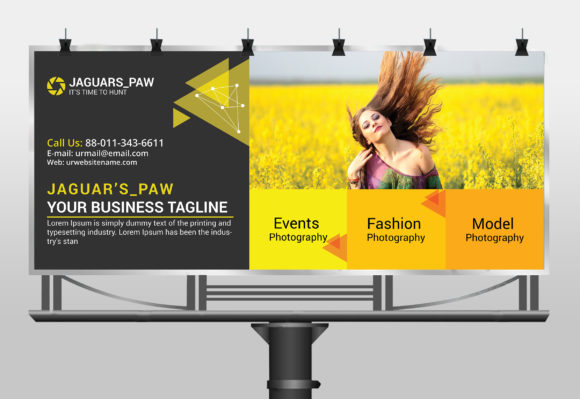 Modern Photography Billboard Graphic Print Templates By CraftFog