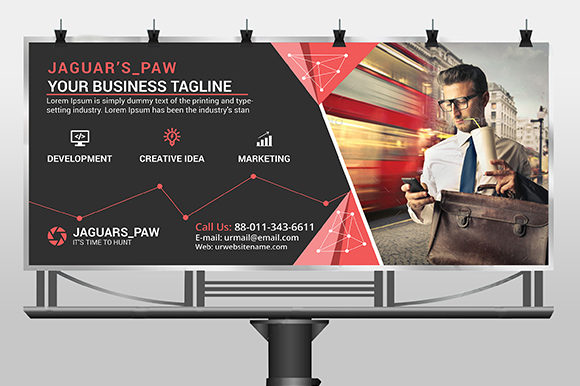 Modern Quality Billboard Template Graphic Print Templates By CraftFog