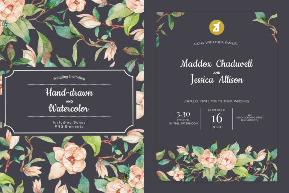 Old Rose Wedding Invitation Graphic Graphic Print Templates By Chanut is industries
