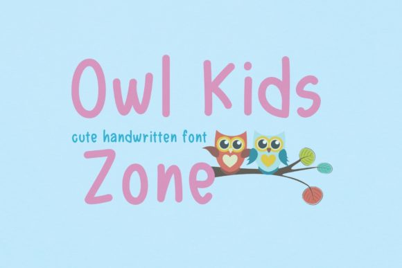 Print on Demand: Owl Kids Zone Script & Handwritten Font By AllaCreativa
