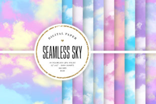 Print on Demand: Pastel Sky Seamless Backgrounds Graphic Backgrounds By Sabina Leja