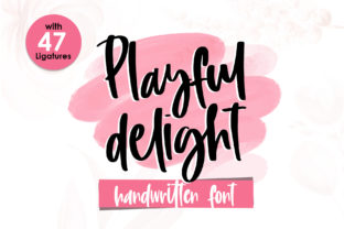 Print on Demand: Playful Delight Script & Handwritten Font By dmletter31