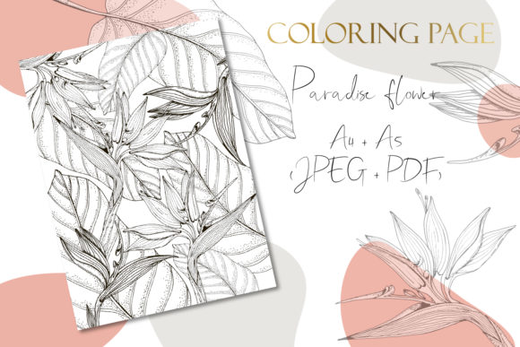 Print on Demand: Printable Digital Coloring Page Flowers Graphic Coloring Pages & Books Adults By LiterkaEm Store - Image 1