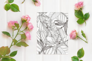 Print on Demand: Printable Digital Coloring Page Flowers Graphic Coloring Pages & Books Adults By DaisyArtDecor 2