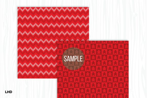 Red Nordic Patterns - Digital Paper Graphic Patterns By LeskaHamatyDesign - Image 5