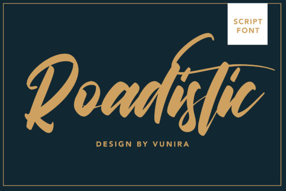 Print on Demand: Roadistic Script & Handwritten Font By Vunira